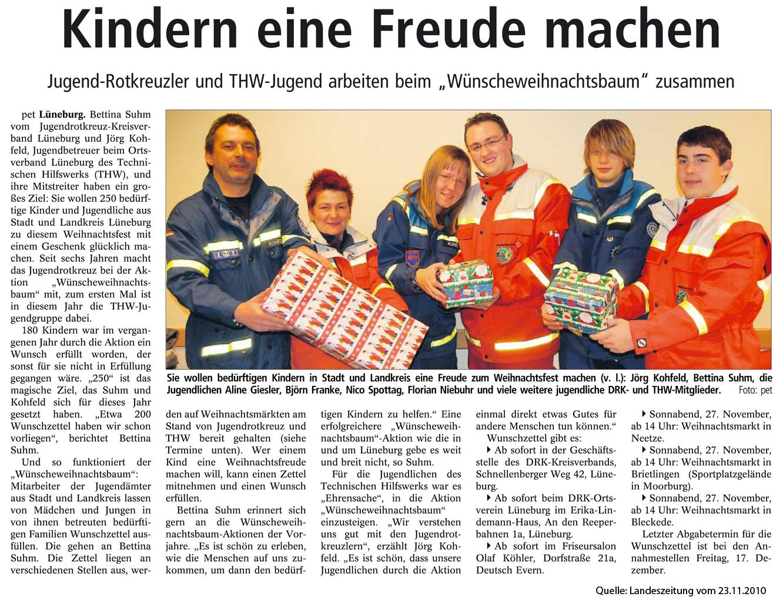 Weihnachtswünsche Jugendliche.Jugend Von Thw Und Rotes Kreuz Erfüllen Weihnachtswünsche Thw Lüneburg